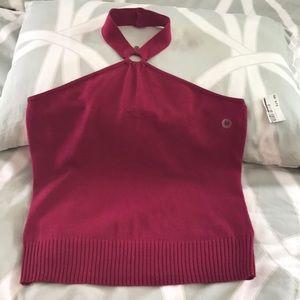 NWT- New York and Company knit halter top- fuchsia